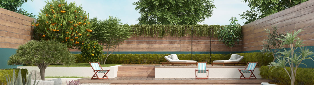 WPC-Zaun als Sichtschutzzaun